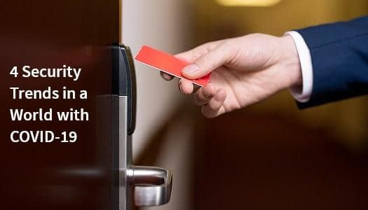 COVID-19 security trend of touchless access key cards.